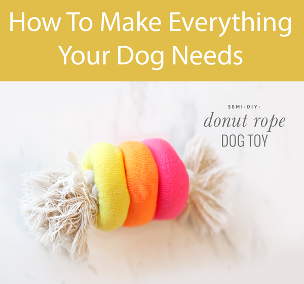 Semi Diy Donut Rope Dog Toy