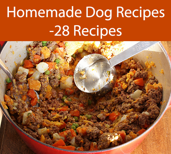 Homemade Dog Recipes -28 Recipes
